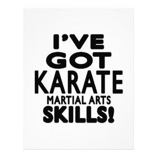 Tengo habilidades del arte marcial del karate plantillas de membrete