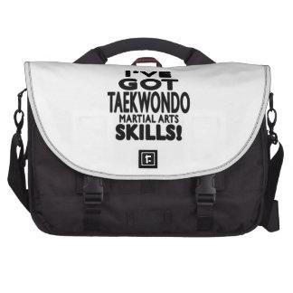 Tengo habilidades del arte marcial del Taekwondo Bolsas De Ordenador
