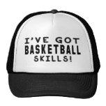 Tengo habilidades del baloncesto gorras de camionero