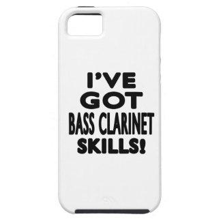 Tengo habilidades del clarinete bajo iPhone 5 Case-Mate funda