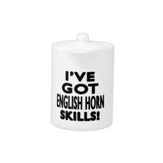 Tengo habilidades del cuerno inglés
