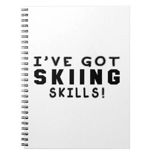 Tengo habilidades del esquí libros de apuntes con espiral
