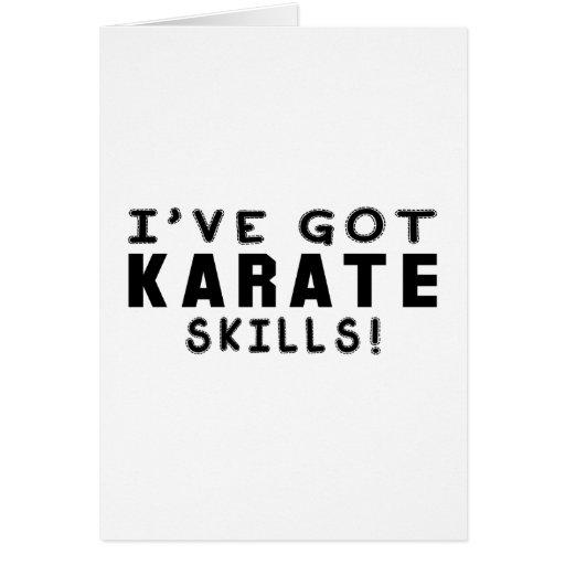 Tengo habilidades del karate felicitacion