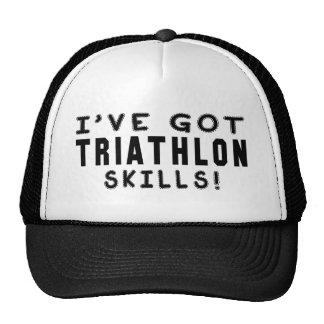Tengo habilidades del Triathlon Gorros