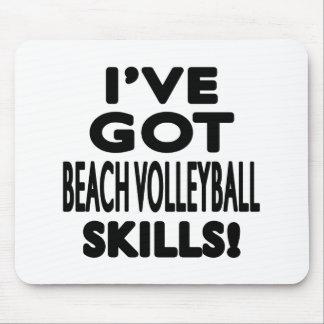 Tengo habilidades del voleibol de playa alfombrillas de raton