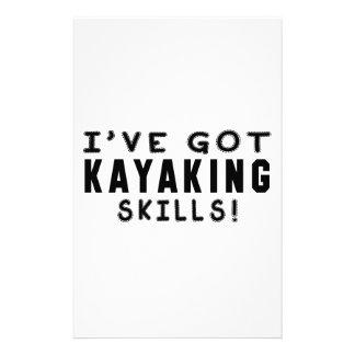 Tengo habilidades Kayaking Papeleria De Diseño