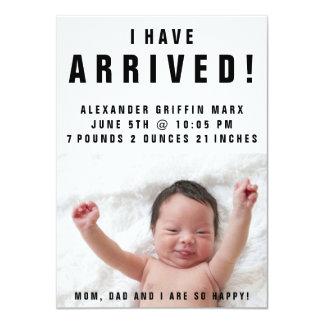 Tengo invitación llegada del nacimiento del bebé