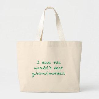 Tengo la mejor abuela del mundo (el verde) bolsa tela grande