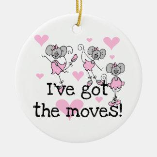 Tengo las camisetas y los regalos de la bailarina ornamento para arbol de navidad