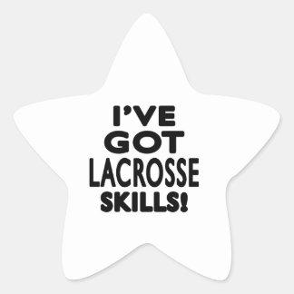 Tengo las habilidades de LaCrosse Pegatina En Forma De Estrella