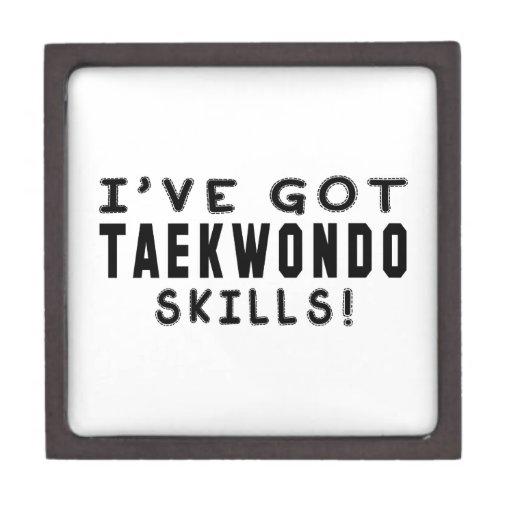 Tengo las habilidades del Taekwondo Cajas De Joyas De Calidad