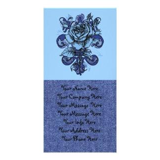 Tengo los azules tarjeta fotografica personalizada