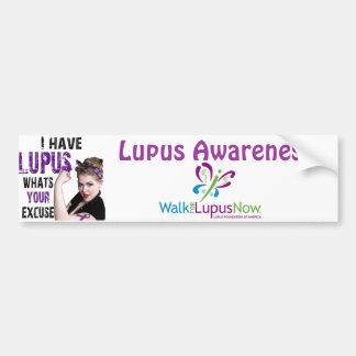 Tengo lupus. ¿Cuál es su excusa? Pegatina Para Auto