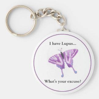 ¿Tengo lupus… cuál es su excusa? Llavero Redondo Tipo Pin