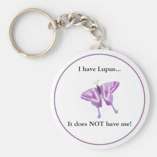 ¡Tengo lupus… que no me tiene! Llavero Redondo Tipo Pin