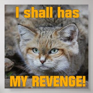 Tengo mi poster grande de la venganza
