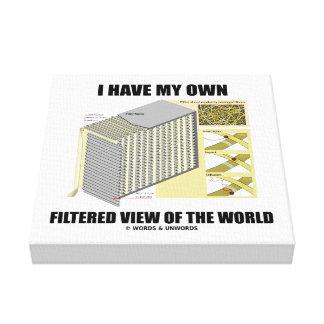 Tengo mi propia opinión filtrada del mundo lona envuelta para galerias