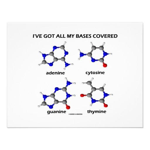 Tengo mis bases cubiertas (las bases de la DNA de  Anuncio
