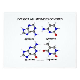 """Tengo mis bases cubiertas (las bases de la DNA de Invitación 4.25"""" X 5.5"""""""
