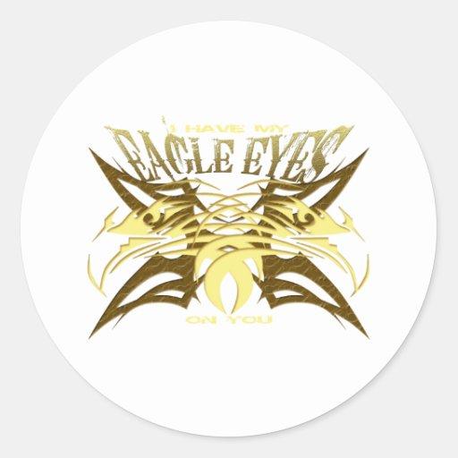 Tengo mis ojos de Eagle #3 Etiqueta Redonda