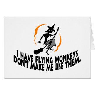 Tengo monos del vuelo no hago que los utiliza tarjeta de felicitación
