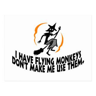 Tengo monos del vuelo no hago que los utiliza tarjeta postal