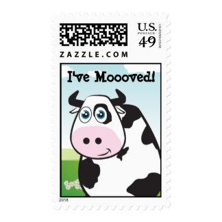 ¡Tengo Moooved! Sellos Postales