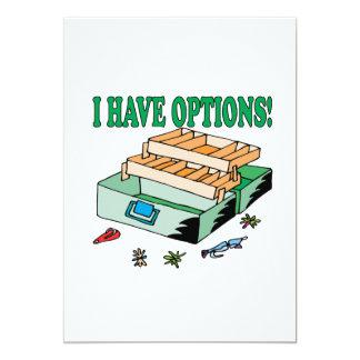 """Tengo opciones invitación 5"""" x 7"""""""
