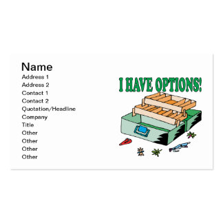 Tengo opciones tarjetas de visita