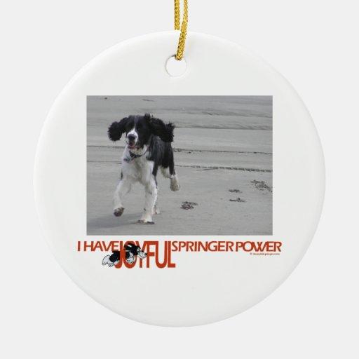 Tengo personalizar alegre del poder del saltador ornamento para arbol de navidad