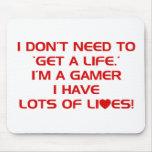Tengo porciones de vidas - videojuegos del juego d alfombrilla de raton