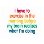 Tengo que ejercitar por la mañana… tarjetas postales