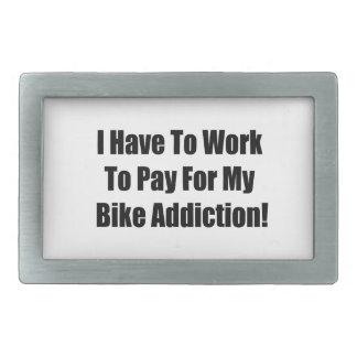 Tengo que trabajar para pagar mi apego de la bici hebillas de cinturón rectangulares