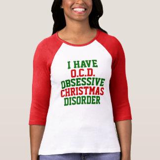 Tengo raglán del desorden de O.C.D. Obsessive Playeras