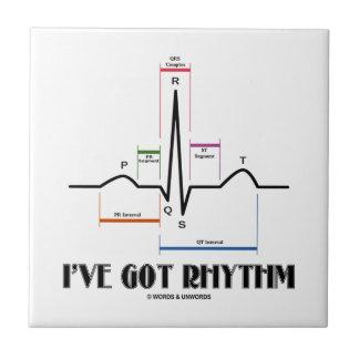 Tengo ritmo (el latido del corazón de EKG/ECG) Azulejo Cuadrado Pequeño