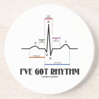 Tengo ritmo (el latido del corazón de EKG/ECG) Posavasos Para Bebidas
