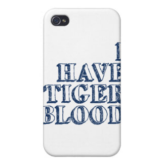 Tengo sangre del tigre iPhone 4/4S carcasa