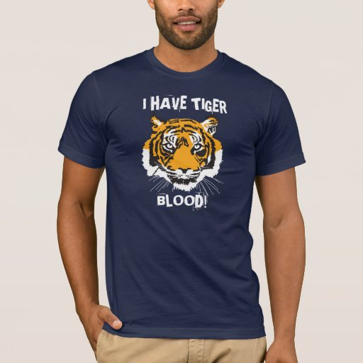 Tengo sangre del tigre playera