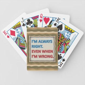 Tengo siempre razón barajas de cartas