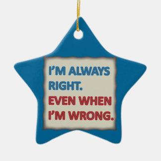 Tengo siempre razón ornamento para arbol de navidad
