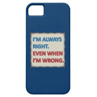 Tengo siempre razón funda para iPhone 5 barely there