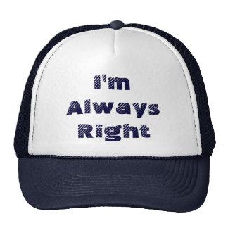 Tengo siempre razón gorras
