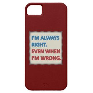 Tengo siempre razón iPhone 5 carcasa