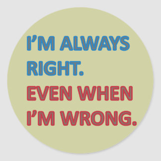 Tengo siempre razón etiqueta redonda