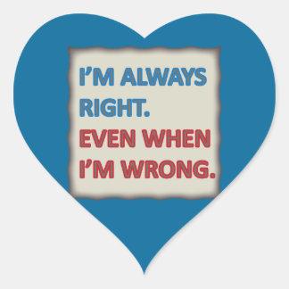 Tengo siempre razón colcomanias de corazon