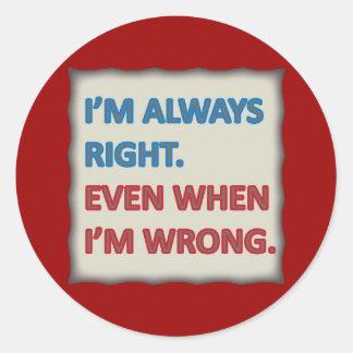Tengo siempre razón etiquetas redondas