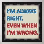 Tengo siempre razón poster
