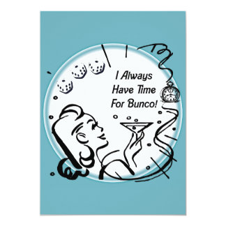 """Tengo siempre tiempo para Bunco por Artinspired Invitación 5"""" X 7"""""""