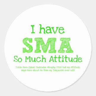 Tengo SMA - tanto actitud Pegatina Redonda