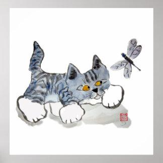 Tengo solamente ojos para usted - gatito a la libé posters